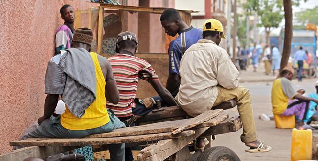 Unemployed youth Africa