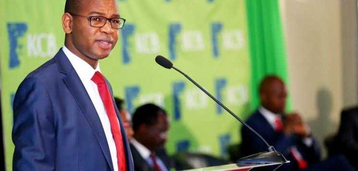 KCB Group Chief Executive Officer Mr. Joshua Oigara presents the KCB Bank Group's 2015 full- year financial results at a Nairobi Hotel.