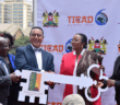Foreign Affairs Cabinet Secretary Amina Mohammed at the official handing over ceremony of the key to KICC by Tourism CS Najib Balala and witnessed by among others Foreign Affairs Principal Secretary Monica Juma and KICC acting Managing Director Nana Gechaga.