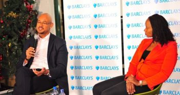 Jeremy Awori CEO Barclays Bank of Kenya Ltd and Caroline Ndung'u, Corporate Relations Director during the Barclays Bank blogger engagement hosted by Nailab