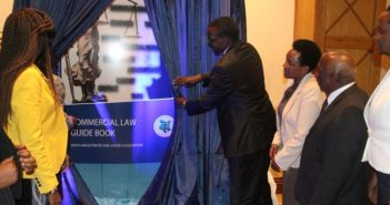 CJ David Maraga  launching the Commercial Law Guide Book