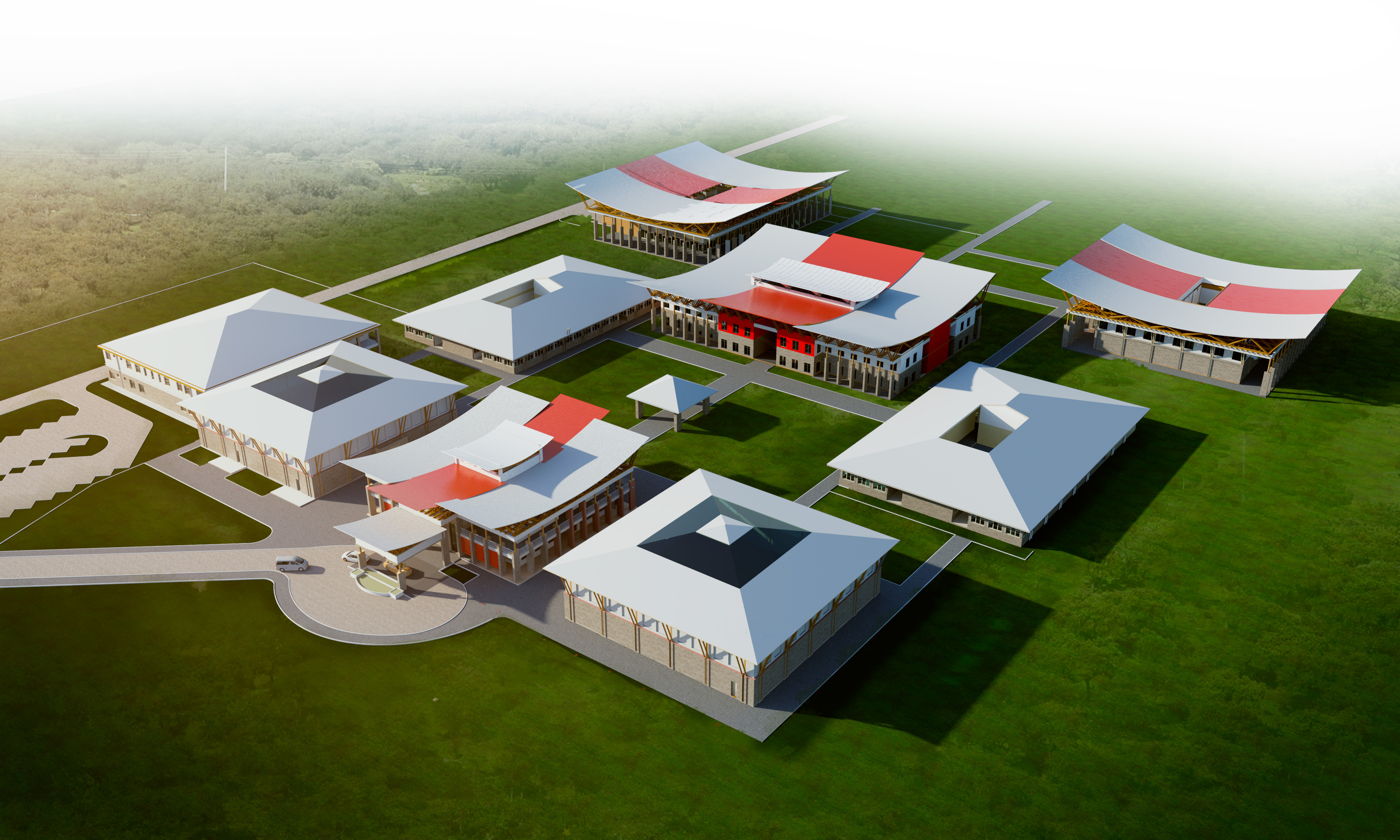 An Aerial View of the M-PESA Foundation Academy