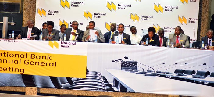National Bank of Kenya Board during the 2016 AGM