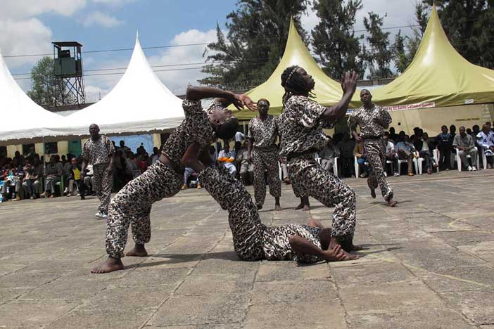 The performing inmates could have been easily mistaken for popular dance groups like Wapi Wapi or the popular FBI dancers.