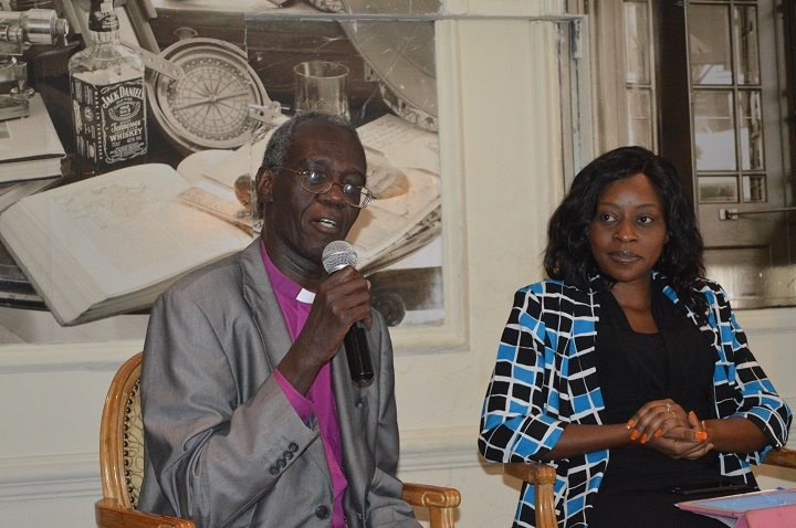 EACC Chair, Rt. Archbishop Eliud Wabukala and KAM CEO Phyllis Wakiaga during the Bribery Act Sensitization Seminar in Nairobi