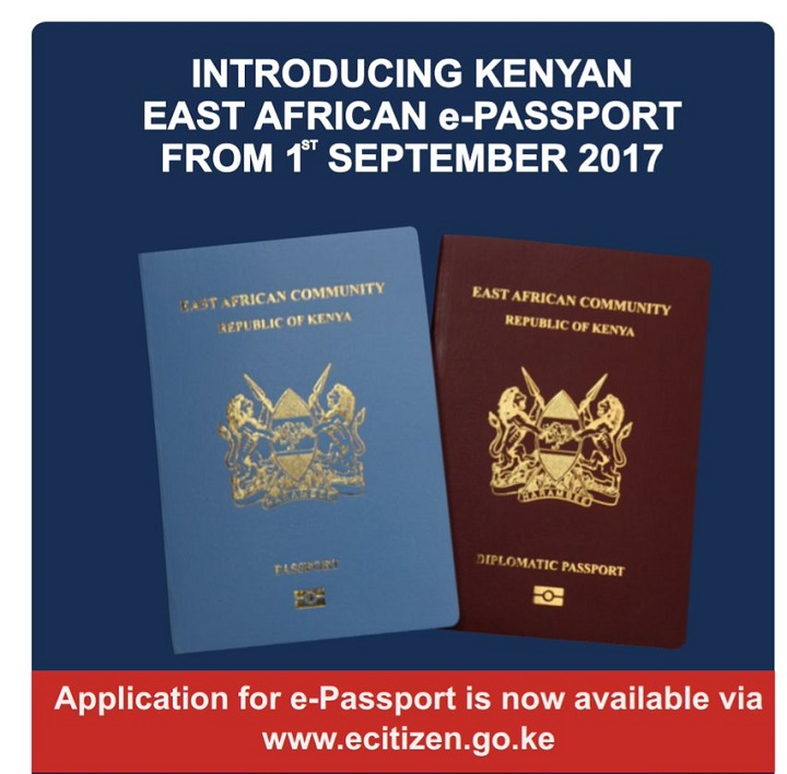 The Kenyan East African e-Passport to be Rolled out in September