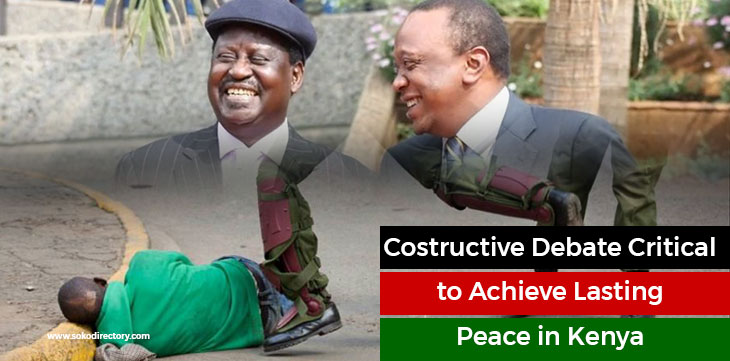 Constructive Debate and Dialogue is a path to peace in Kenya