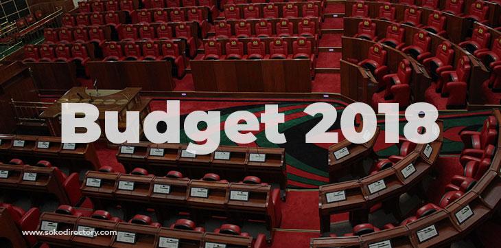 2018 budget Kenyans