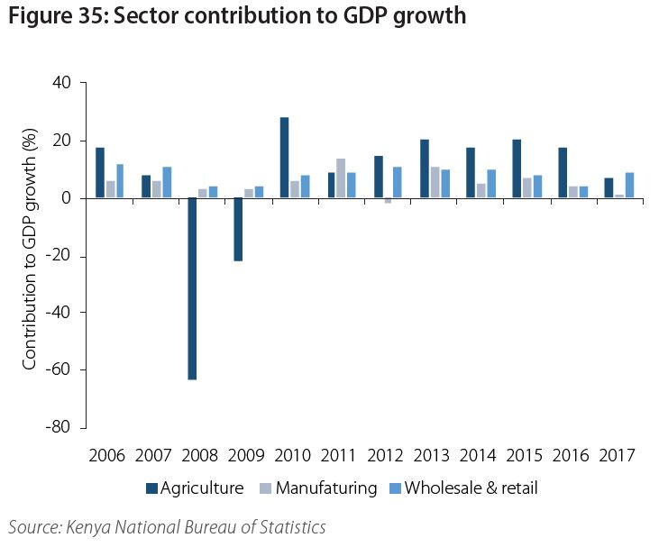 Kenya's Overall Agricultural Output Continues to Decline